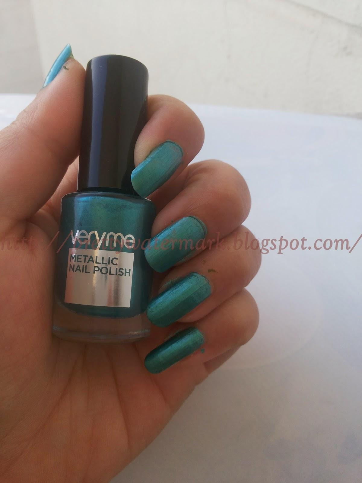 On My Nails Today-Very Me Metallic Nail Polish-Aqua Green | Latest ...