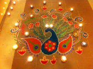 peacock-diya-rangoli-design