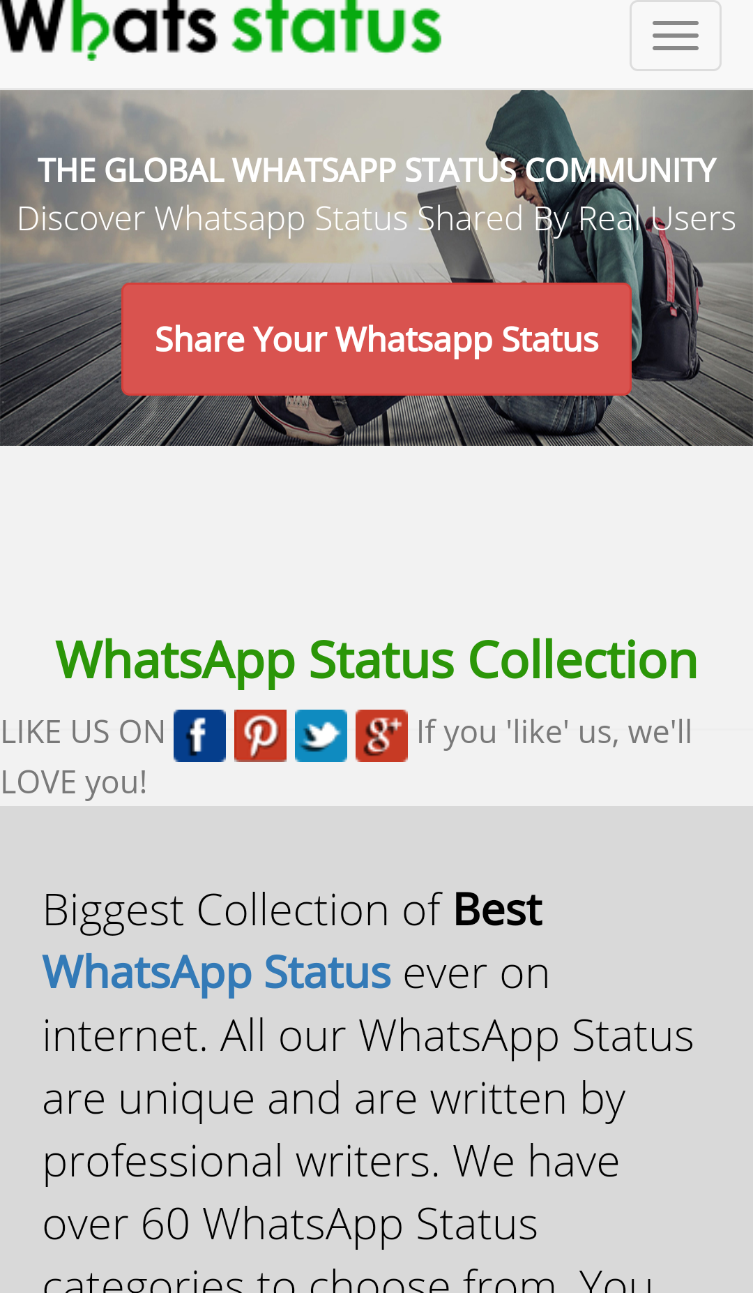 Website Review Are You Struggling For Whatsapp Status